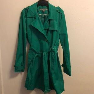 Like new! Kenneth Cole reaction  green coat XXL